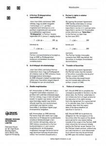 Orgnic Mission Global ag kötvény szerződés Organic Mission Enterprises ltd 3 oldal