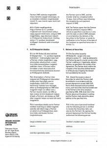Orgnic Mission Global ag kötvény szerződés Organic Mission Enterprises ltd 4 oldal