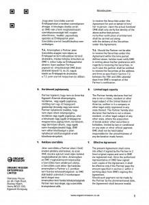 Orgnic Mission Global ag kötvény szerződés Organic Mission Enterprises ltd 5 oldal
