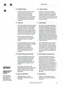 Orgnic Mission Global ag kötvény szerződés Organic Mission Enterprises ltd 6 oldal